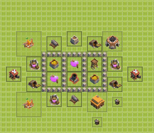 タウンホール_レベル3_配置_攻略