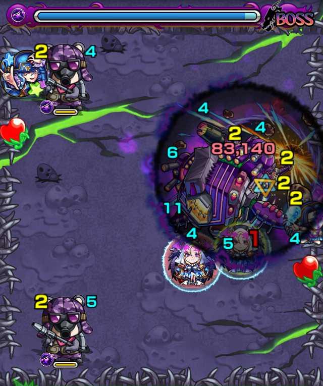 宇宙鯨ゼペット降臨攻略_バトル3ボス1回目_3_モンスト降臨攻略