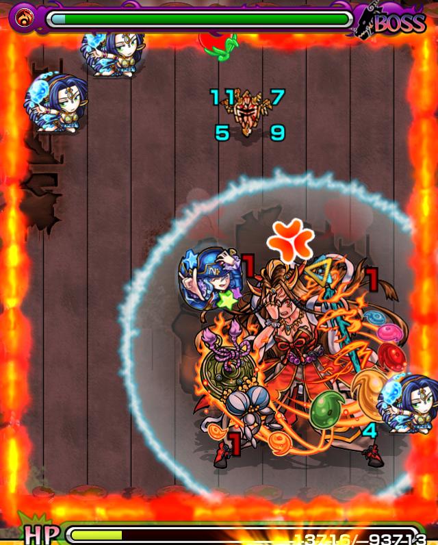 ★イザナミ降臨攻略バトル6_1