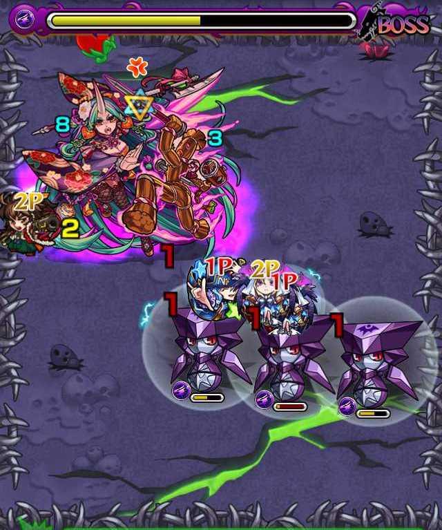 滝夜叉姫降臨攻略_バトル6ボス3回目_2_モンスト降臨攻略
