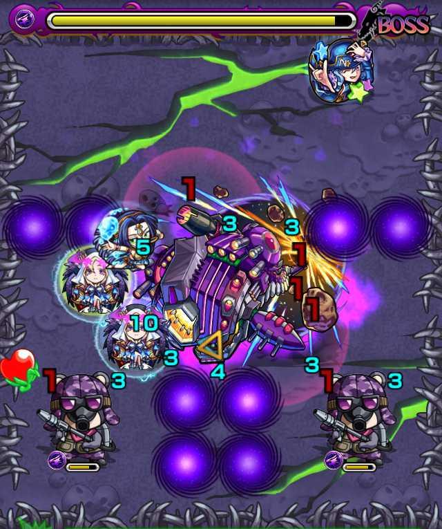宇宙鯨ゼペット降臨攻略_バトル6ボス4回目_2_モンスト降臨攻略