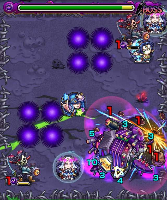 宇宙鯨ゼペット降臨攻略_バトル5ボス3回目_3_モンスト降臨攻略