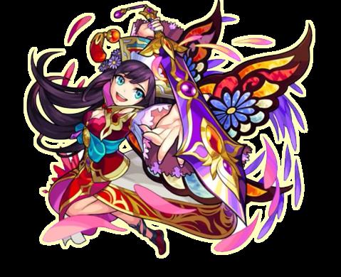 剣を構えるモンスターストライク・紫苑の画像
