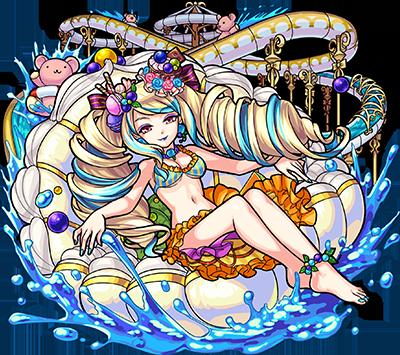 光属性 ★6 常夏女王 クィーン・スプラティア(進化合成後)
