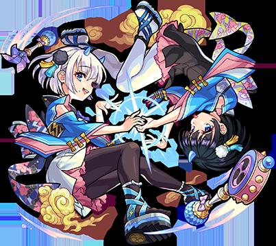 水属性 ★5 風神雷神(進化前)